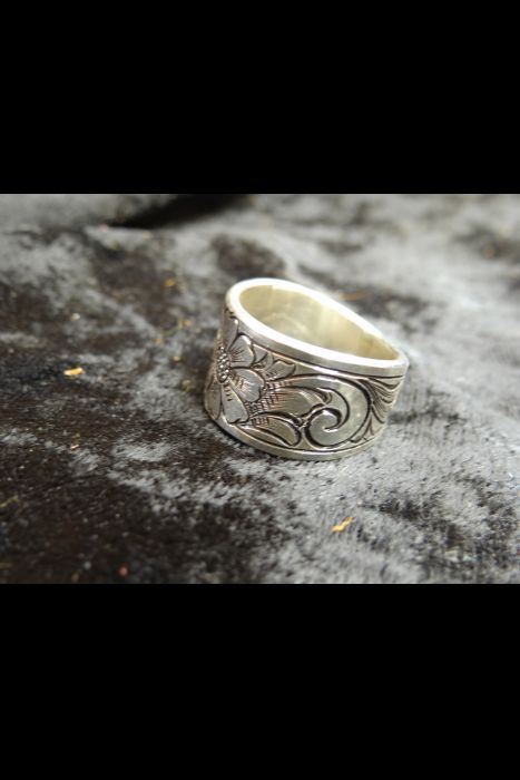 Silver Engraved Ring #21 | Another View