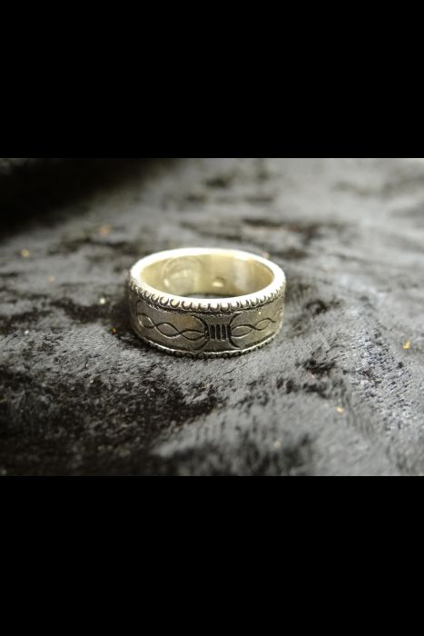 Silver Engraved Ring #22