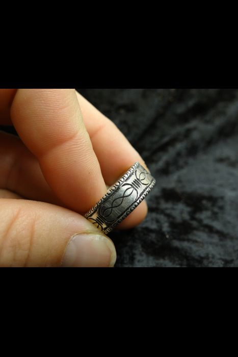 Silver Engraved Ring #22 | Another View