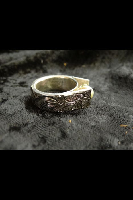 Silver Engraved Ring #23