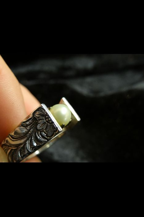 Silver Engraved Ring #23 | Another View