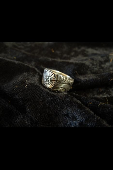 Silver Engraved Ring #2