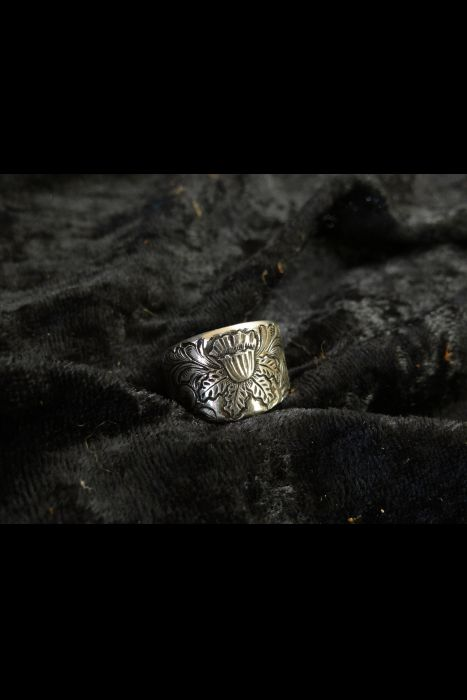 Silver Engraved Ring #3