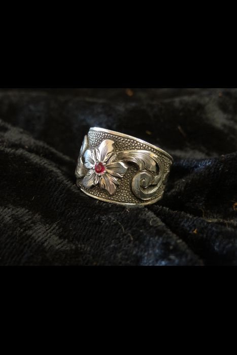 Silver Engraved Ring #4