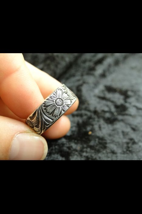 Silver Engraved Ring #24 | Another View