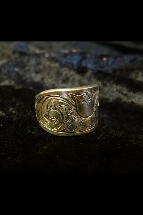 Silver Engraved Ring #10B