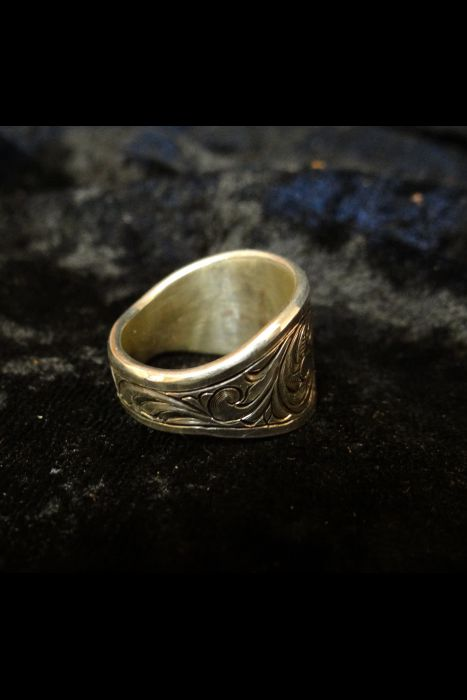 Silver Engraved Ring #10B | Another View