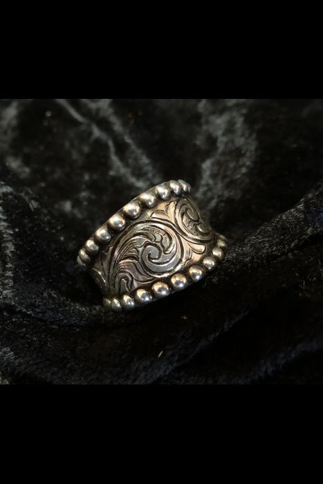 Silver Engraved Ring #6B