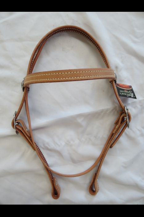 "3/4""  Browband Headstall With Tree-line Mecate 