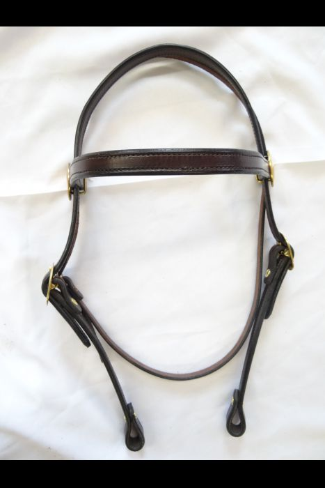 "Dark Brown 3/4"" Straight Headstall"