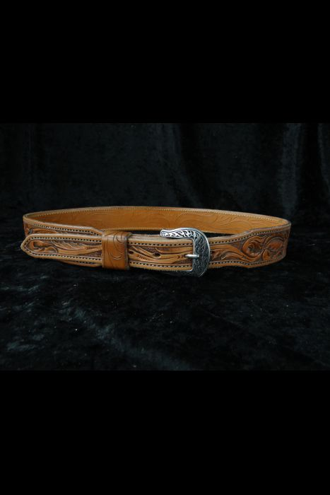 Sunflower Tooled Belt | Another View
