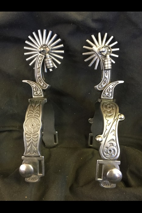 JWP Spurs with Jinglebobs Stainless Steel (pair)