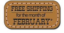 Free Shipping for the month of February