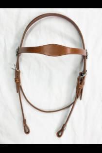 Single Scalloped Chestnut Headstall