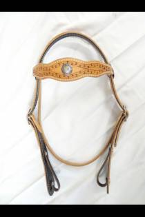 Double Scalloped Headstall Carlos Border Stamp