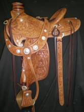 Full tooled saddle made by Tyler Frecker