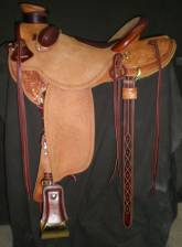 1/2 Tooled Saddle made by Typer Frecker
