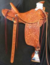Full Mixed Floral Saddle made by Kent Frecker for Greg Kunhi