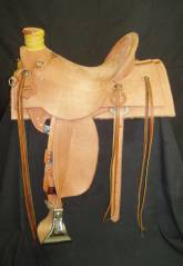 "16"" Ray Hunt Wade. 5"" Shovel Cantle. Square skirt rough-out. Made by Kent Frecker."