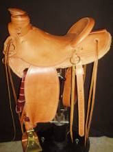 """15 ½"""" Wade. Light Weight Saddle. Smooth Out Plain. Made by Kent Frecker"""