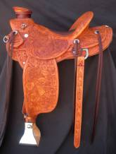 Full tooled custom saddle made by Kent Frecker