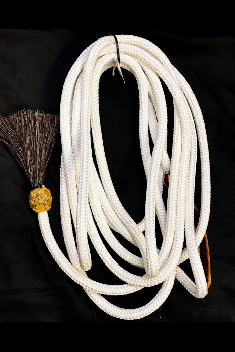 22 Ft Tree Line Mecate with horsehair Tassel