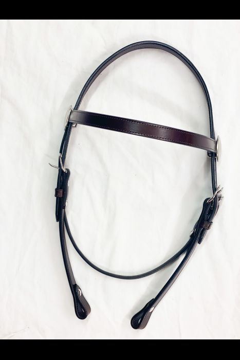 "3/4"" Dark Brown Headstall 