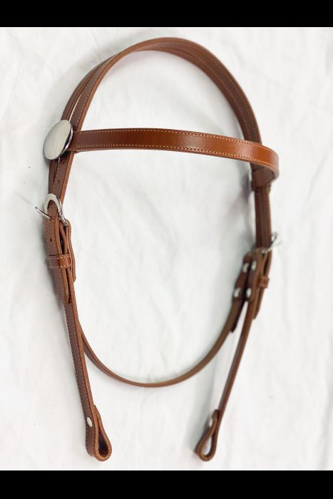 "3/4"" Chestnut Browband Headstall 