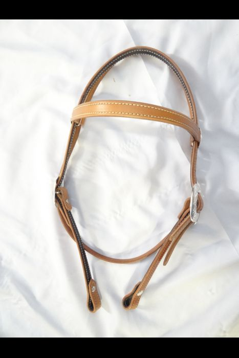 3/4 Browband headstall with Silver. | Another View