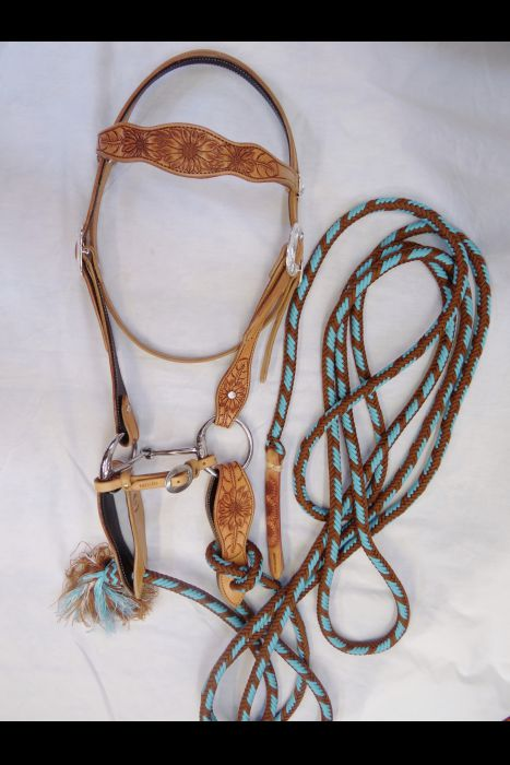 Sunflower Tooled Bridle Set