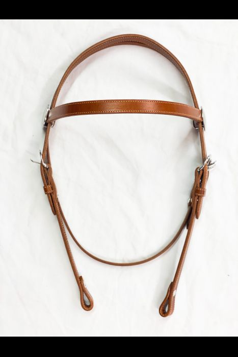 "3/4"" Chestnut Browband Headstall"