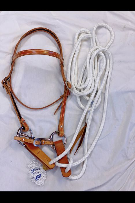 "3/4""  Browband Headstall With Tree-line Mecate"