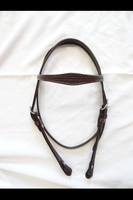Dark Brown leather Headstalls