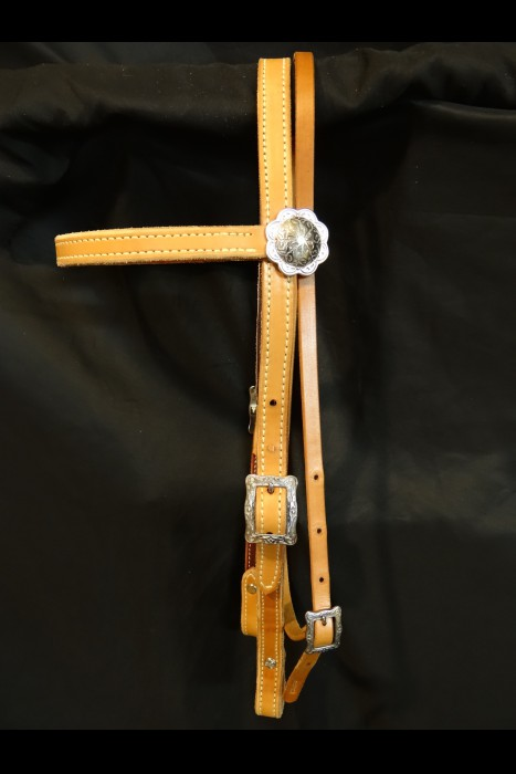 3/4  Browband Headstall With Tree-line Mecate - Smooth
