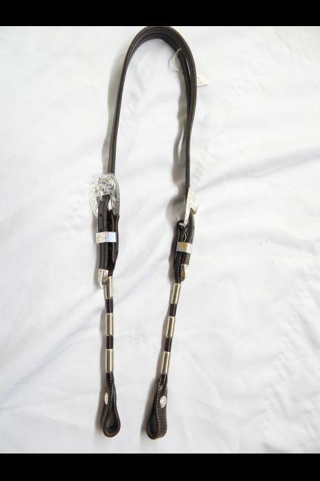 ferrule Split Ear bridle with silver