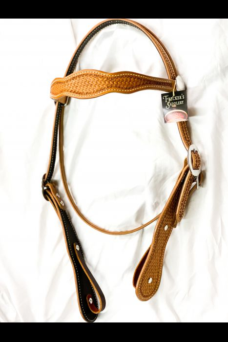 Double Scalloped Headstall | Another View