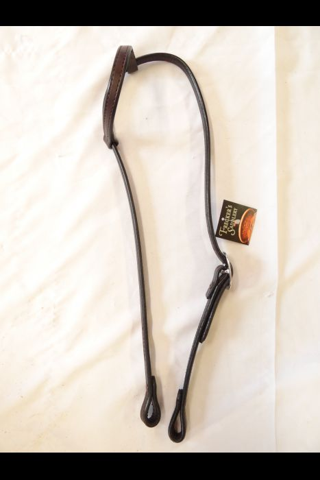 English Dark Brown Single Ear Headstall | Another View