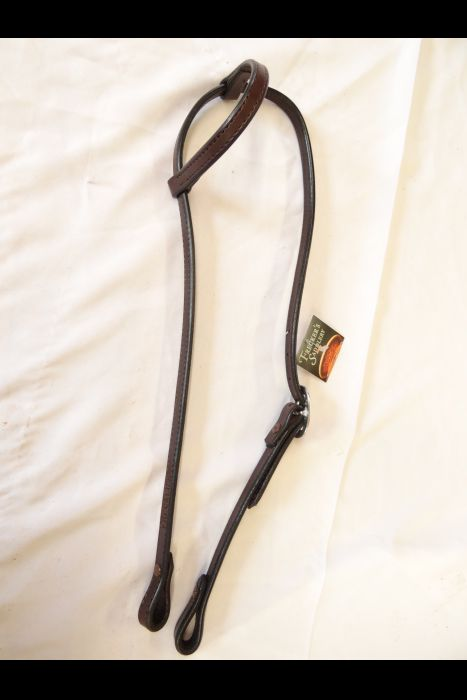 English Dark Brown Single Ear Headstall