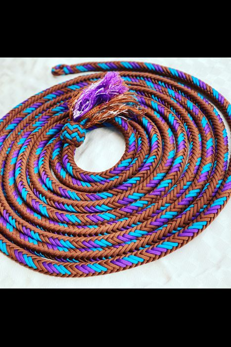 Brown,Teal and purple