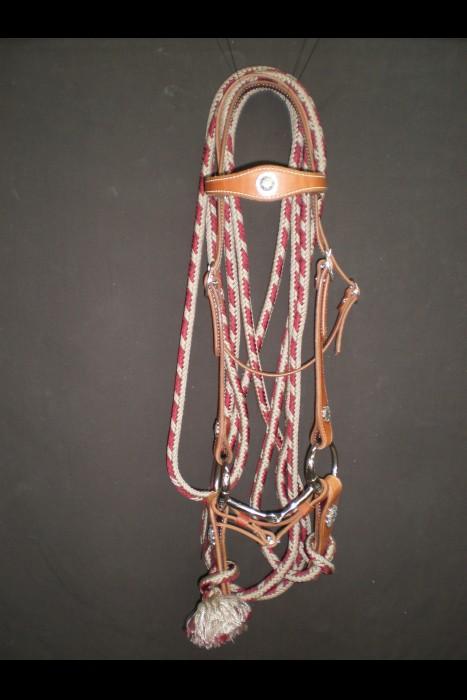 Single Scalloped Bridle w/ Parachute Mecate