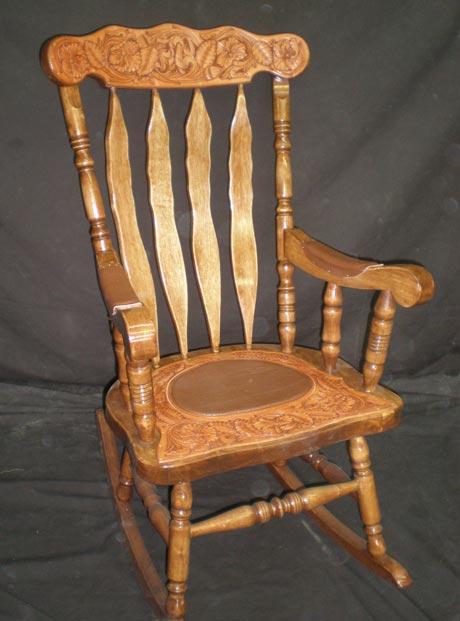 Leather Tooled Rocking Chairs Gifts For Horse Enthusiasts
